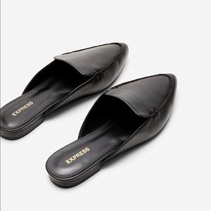 EXPRESS Pointed Toe Slide Black Loafer Size 7